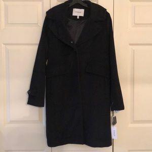 RARE SZ L NWT Derek Lam 10 Crosby Wool Blend Coat